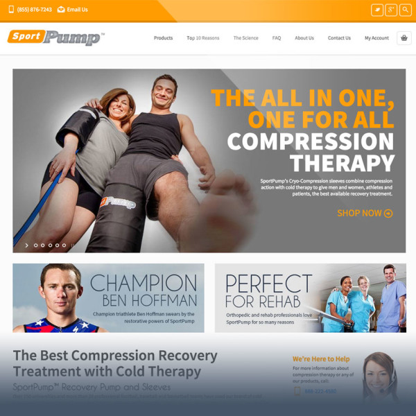 SportPump Ecommerce Website