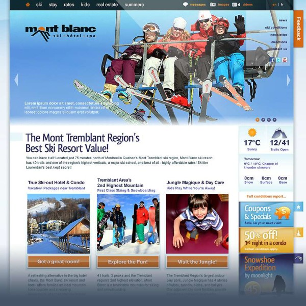 Ski Resort Web Design